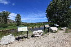 A monument to the Lewis & Clark expedition in Sula, MT.
