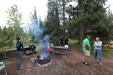 The cyclist campground at Jenny Lake. --Grand Teton National Park, WY