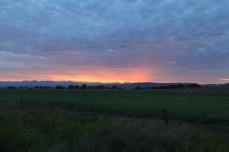 Sunrise over Baker City, OR.