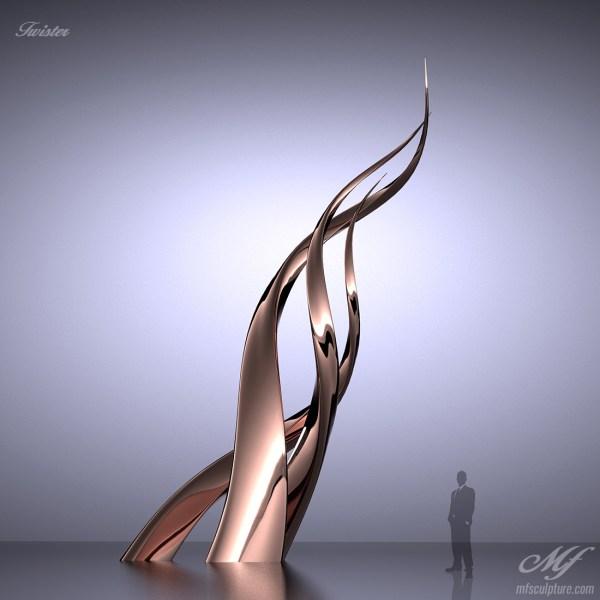 """""""twister"""" Modern Sculpture - Mike Fields Contemporary Sculptures"""
