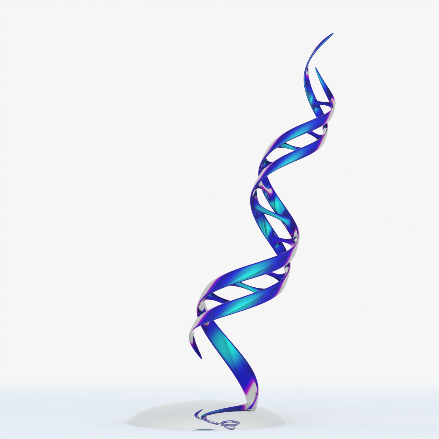 Ribbon Of Life Contemporary Dna Sculpture