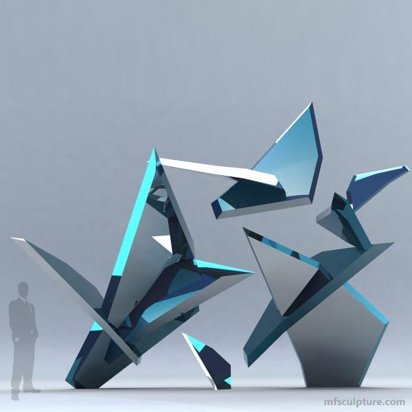 """""""fracture"""" Modern Glass Sculpture - Mike Fields"""