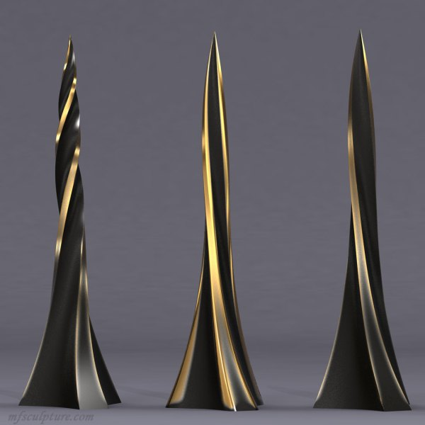 """twisted Obelisk"" Modern Sculpture - Mike Fields"