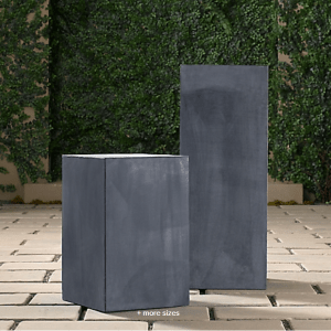 Estate Zinc Cube Pedestal