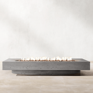 Ojai Fire Table available in rectangular, square and circle