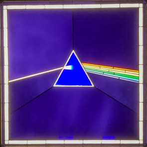 A stained glass version of a famous album cover