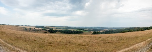 Lancing and Cissbury Rings from Chanctonbury