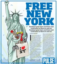 Created illustration and design for story about free things to do in New York.