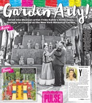 Design for a story about the opening of a Frida Kahlo exhibit at the Botanical Gardens.