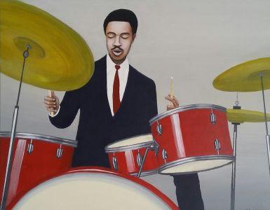 Tony Williams, 2016</br> acrylic on canvas</br> $3000