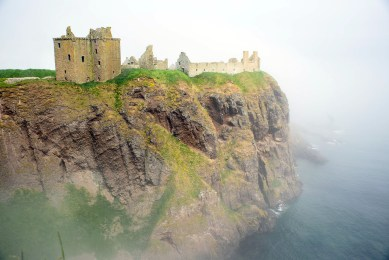 Dunnottar Castle sits atop a giant crag on the North Sea.