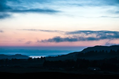 Isle of Skye at sunset (10:30 p.m.). Photo by Mike Higdon