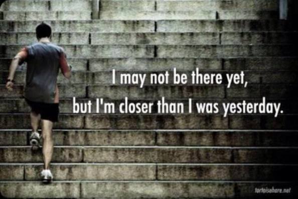 Never give up until you finish.