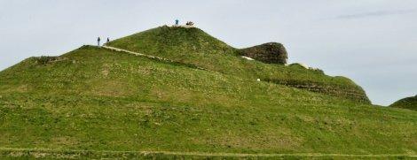 Northumberlandia's head.