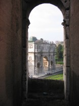 The Arch of Constantine from the Colosseum.
