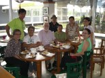 Coffee and doughnuts with genebank staff at IRRI