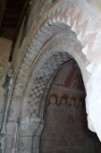 The magnificent Norman arch leading to the chancel.