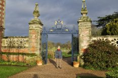 The gate to the gardens.