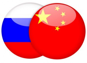 China & Russia Flags