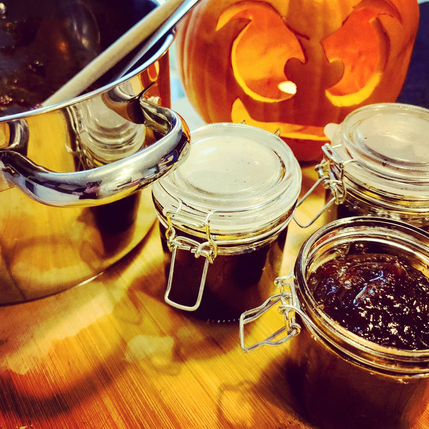 Made some pumpkin jam this year. Tastes a bit like toffee. Not sure if that's good or bad.