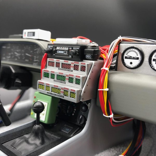 DeLorean satin time circuit front stickers installed