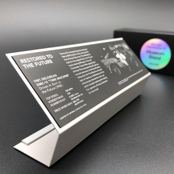DeLorean 1:8 Time Machine replica Museum Stand
