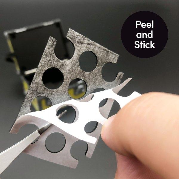 Peel and stick foam inserts for DeLorean Plutonium case