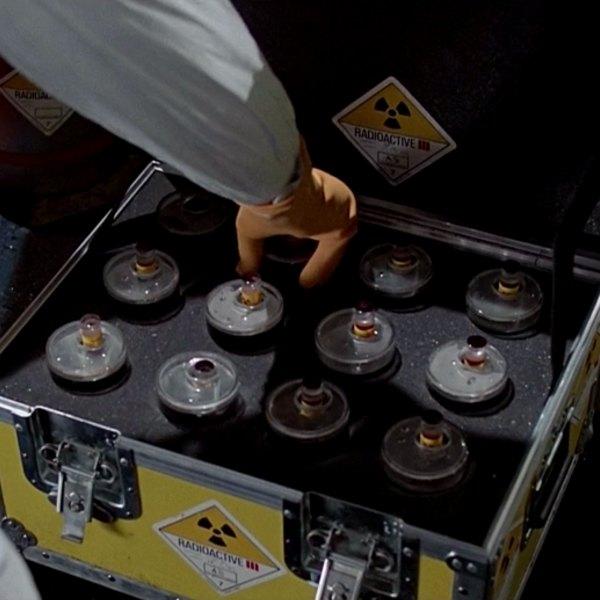 Original DeLorean plutonium case from Back to the Future