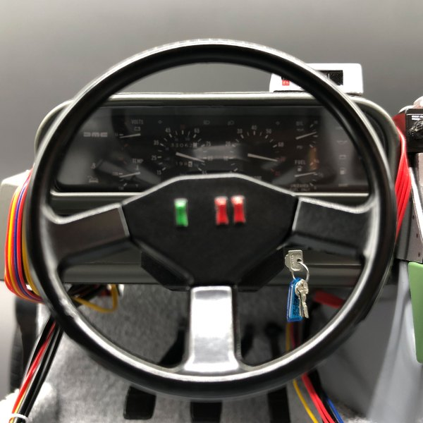 Metal Keys and Key Tag mod in DeLorean ignition