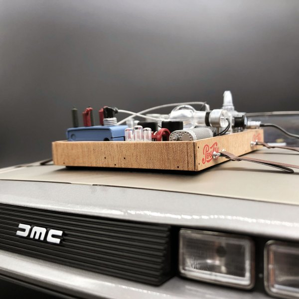 Hood Box Upgrade Kit DeLorean mod installed
