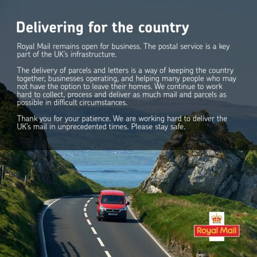 Royal Mail remains open for business