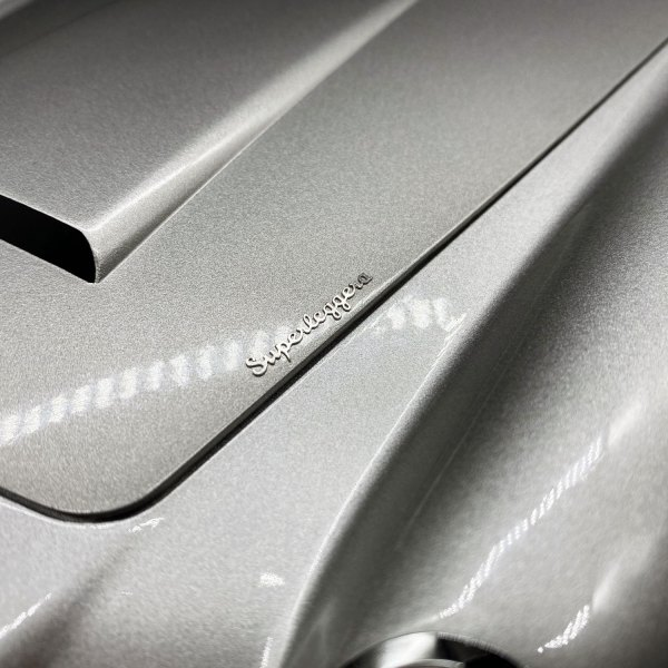 Replacement 'Superleggera' bonnet badge for Eaglemoss DB5 model