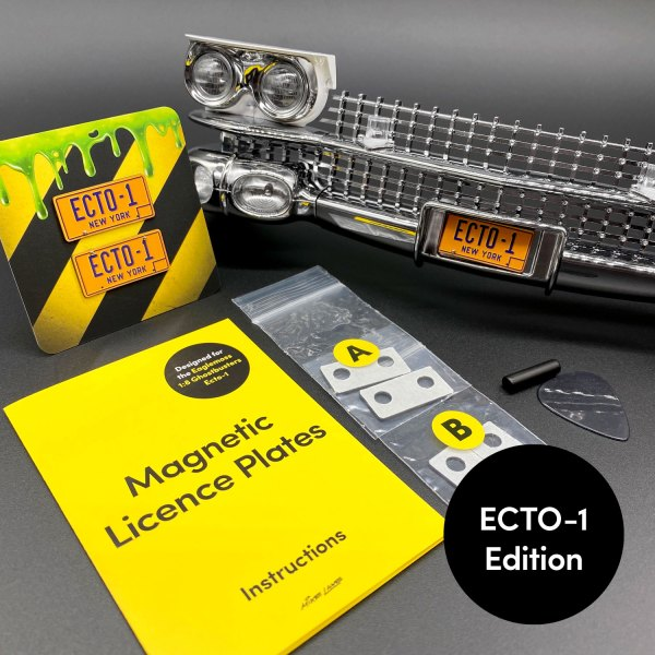 Magnetic Licence Plate Kits ECTO-1 edition contents