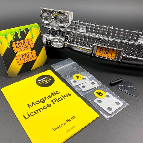 ECTO-1 Edition of Magnetic Licence Plate Kits from Mike Lane Mods