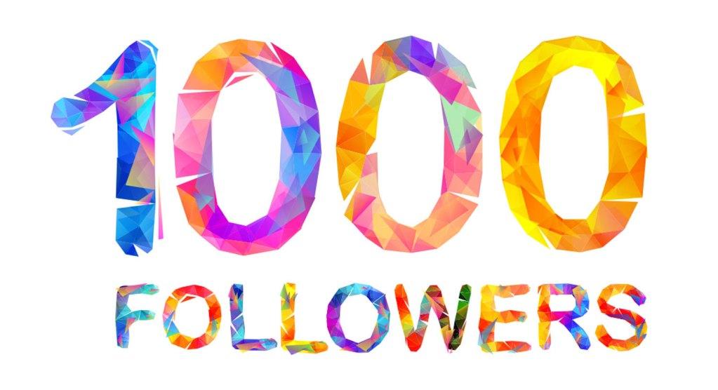 Celebrating 1000 followers on Facebook
