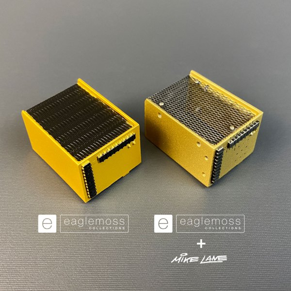 DeLorean Gold Box before and after Mike Lane's mesh mod added