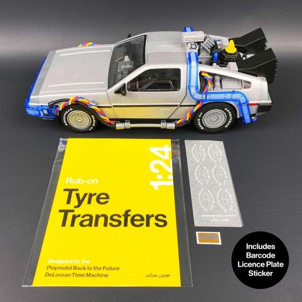 Tyre Transfers mod for Playmobil DeLorean model