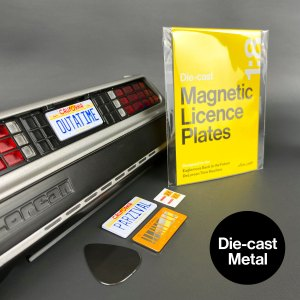 DeLorean licence plates mods in die-cast metal