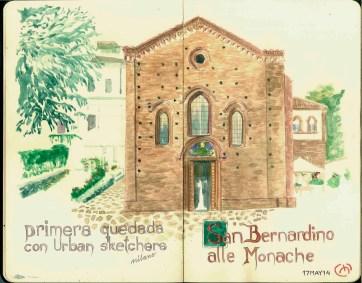 Chiesa. Milan. Watercolor