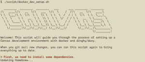 Canvas installation - Shows response from the Command Line script