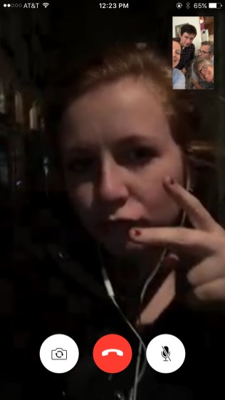 Lydia calls from Paris