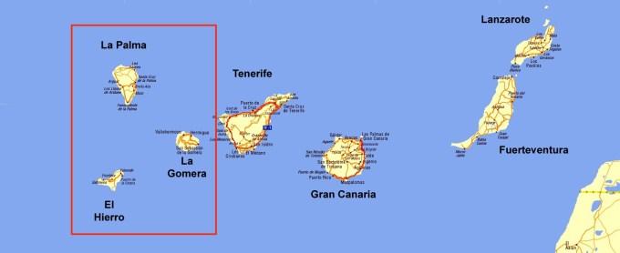 Wyspy zachodnie: El Hierro, Gomera i La Palma