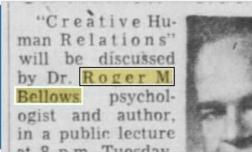 Roger Bellows - 1957