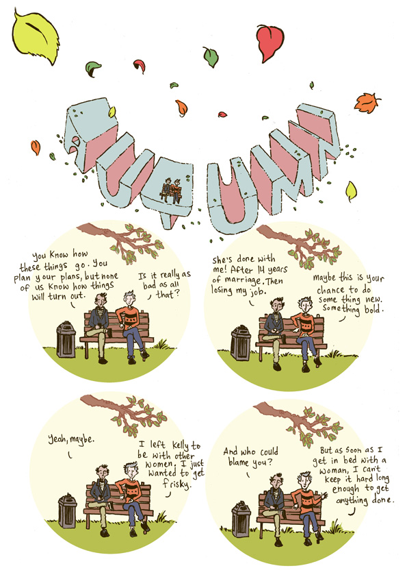 First page of 'Autumn' from my book 'Seasons'