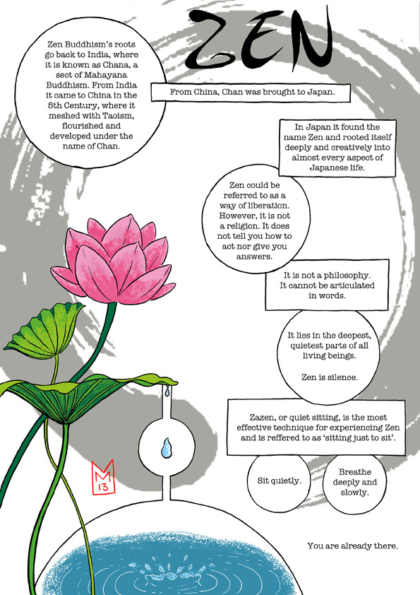 Intro to Zen from WuWei Comics anthology