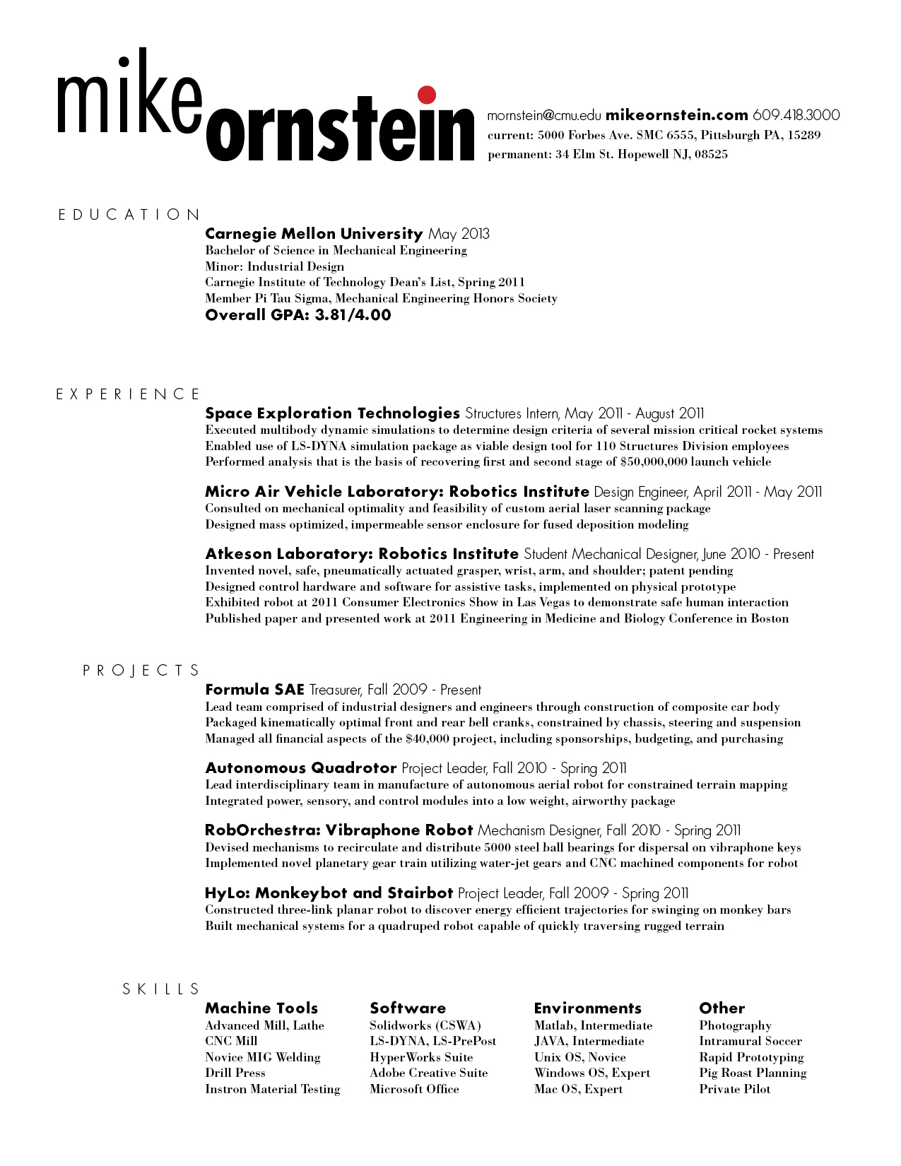 Business To Business Resume Mike Ornstein Cdf Fall 2011 Assignments And Musings