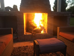 Close up of Outdoor Fireplace