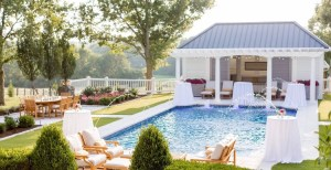 New Pool Installation with Pool House and Paver Dining area