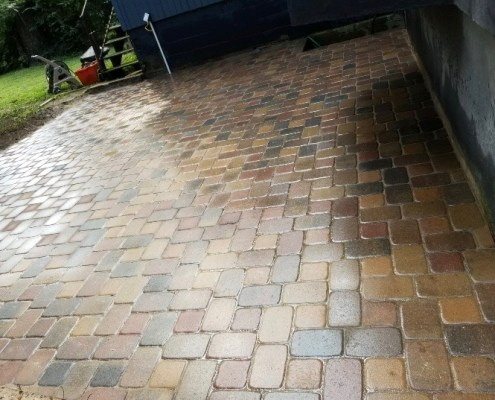 Close up of a Paver Patio