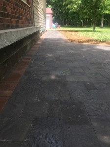 Paver Walkway against house
